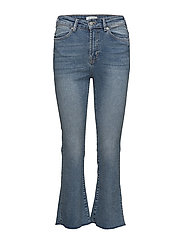 SLFLANA XHR BOOTCUT CROPPED HUSH BLUE EX - MEDIUM BLUE DENIM
