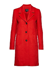 SFSASJA WOOL COAT CAMP H - TRUE RED