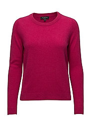 SFAYA CASHMERE LS KNIT O-NECK - LOVE POTION