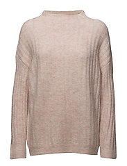 SFMALIA LS KNIT T-NECK - SEPIA ROSE