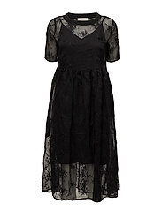 SFEWHA 2/4 LACE DRESS - BLACK