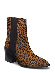 SFELENA HIGH SHAFTED LEOPARD BOOT - SAND