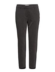 Selected Femme - SLFAMILA MW PANT NOOS - straight leg trousers - dark grey melange - 0