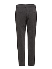 Selected Femme - SLFAMILA MW PANT NOOS - straight leg trousers - dark grey melange - 2