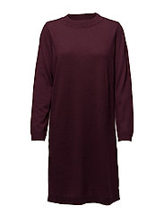 SFEILEEN LS KNIT O-NECK DRESS - MAUVE WINE