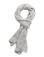 SFMAHINA KNIT SCARF - LIGHT GREY MELANGE