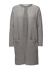 SFLAUA LS KNIT CARDIGAN NOOS - LIGHT GREY MELANGE
