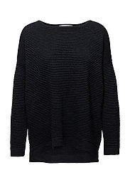 SFLAUA LS KNIT OVERSIZE WIDE O-NECK NOOS