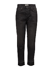 SFFRIDA HIGH RISE MOM BLACK POCKET J - BLACK DENIM