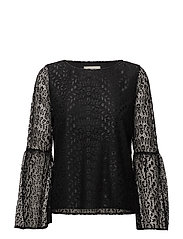SFMARCIA 7/8 LACE TOP - BLACK