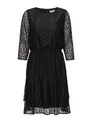 SFMARCIA 3/4 LACE DRESS - BLACK