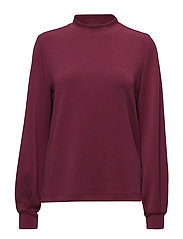 SLFTEA LS HIGHNECK SWEAT - BEET RED
