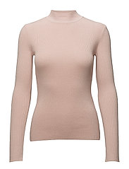 SFLUSIA LS KNIT HIGHNECK - SEPIA ROSE