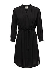 SLFDAMINA 7/8 DRESS B NOOS - BLACK