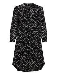 SLFDAMINA 7/8 AOP DRESS - BLACK