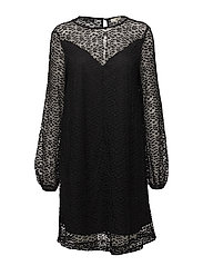 SFLACIE LS LACE DRESS - BLACK