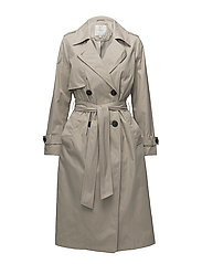 SLFWEEK LS TRENCHCOAT B - CROCKERY