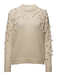 SFNORA LS KNIT O-NECK - BIRCH