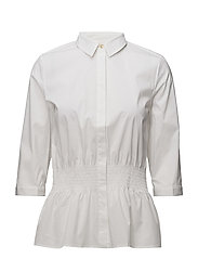 SFCAMILLE 3/4 SMOCK SHIRT - OPTICAL SNOW