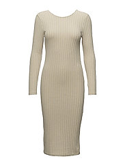 SFEDEN LS RIB DRESS - BIRCH