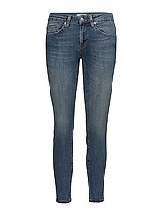 SFIDA MW CROPPED JEANS BLUE WATER NOOS - MEDIUM BLUE DENIM