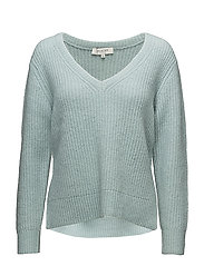 SFMINTY LS KNIT V-NECK - GRAY MIST