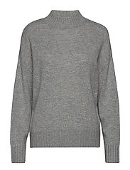 SLFKALUKA LS KNIT HIGHNECK B - LIGHT GREY MELANGE