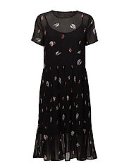 SFFIFFI SS DRESS EX - BLACK