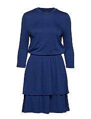 SLFAUDREY 3/4 DRESS EX - BLUE DEPTHS