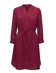 SLFDAMINA 7/8 DRESS - BEET RED