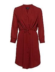 SLFDAMINA 7/8 DRESS - FIRED BRICK
