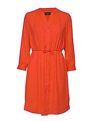 SLFDAMINA 7/8 DRESS B - ORANGE.COM