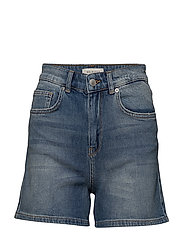 SFCARLA HW DENIM SHORTS MID BLUE J - MEDIUM BLUE DENIM