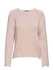 SLFOLGA LS KNIT WIDE O-NECK B - SEPIA ROSE