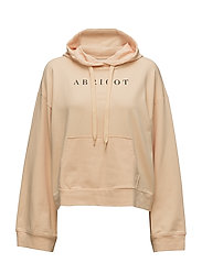SFLEA LS CROPPED SWEAT HOODIE CAMP - APRICOT ICE