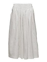SFRAIKA HW CROPPED WIDE PANTS - BRIGHT WHITE