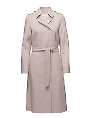 SFTAMMI WOOL COAT MELANGE  H - SEPIA ROSE