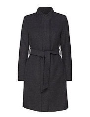 SLFDEA WOOL COAT B - MEDIUM GREY MELANGE