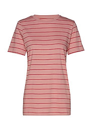 SLFMY PERFECT SS TEE THIN STRIPE COLOR - BRIDAL ROSE