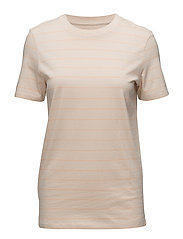 52fe1840d5d6 SLFMY PERFECT SS TEE THIN STRIPE COLOR - SNOW WHITE. Selected Femme