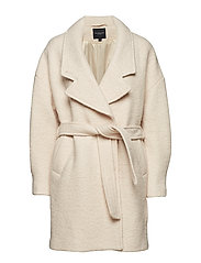SLFPAJA WOOL COAT B - SAND DOLLAR