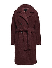 SLFPALLA TEDDY COAT B - DECADENT CHOCOLATE