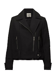 SLFTHEA SHORT BIKER JACKET W - BLACK