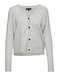 SLFHELKA LS KNIT CARDIGAN NOOS - LIGHT GREY MELANGE
