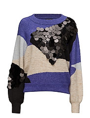 SLFTANCY LS KNIT O-NECK B - LIBERTY