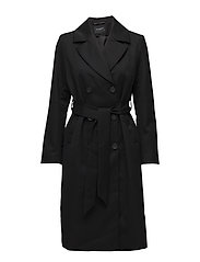SLFKIMMIE WOOL COAT B - BLACK