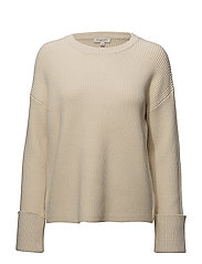 SLFHALLY LS KNIT O-NECK W - BIRCH