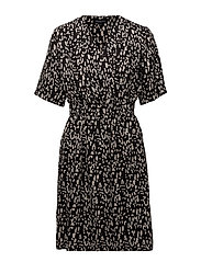 SLFLEOLA 2/4 WRAP DRESS B - BLACK