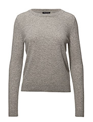 SLFAYA CASHMERE LS KNIT O-NECK NOOS - LIGHT GREY MELANGE