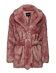 SLFFURY FAUX FUR B - EARTH RED